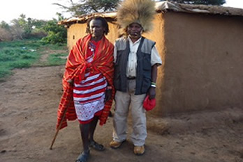 posing for a photo with Maasai Moran
